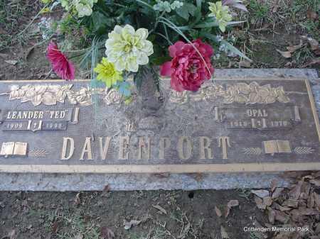 "DAVENPORT, LEANDER ""TED"" - Crittenden County, Arkansas   LEANDER ""TED"" DAVENPORT - Arkansas Gravestone Photos"