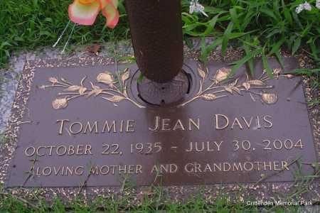 DAVIS, TOMMIE JEAN - Crittenden County, Arkansas | TOMMIE JEAN DAVIS - Arkansas Gravestone Photos