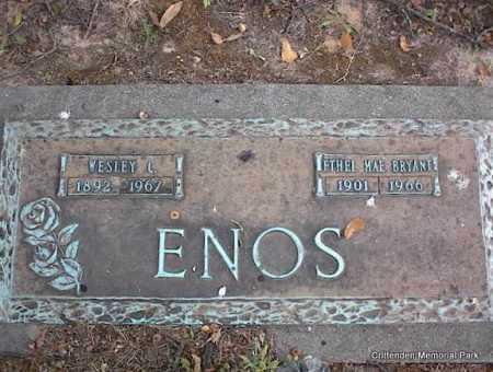 ENOS, ETHEL MAE - Crittenden County, Arkansas | ETHEL MAE ENOS - Arkansas Gravestone Photos