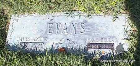 EVANS, JAMES ARTHUR - Crittenden County, Arkansas | JAMES ARTHUR EVANS - Arkansas Gravestone Photos