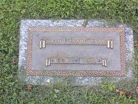 """EVANS, SARAH F """"FANNIE"""" - Crittenden County, Arkansas   SARAH F """"FANNIE"""" EVANS - Arkansas Gravestone Photos"""