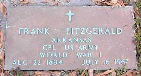 FITZGERALD (VETERAN WWI), FRANK - Crittenden County, Arkansas | FRANK FITZGERALD (VETERAN WWI) - Arkansas Gravestone Photos