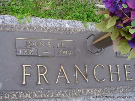 FRANCHE, JR, JOHN E - Crittenden County, Arkansas | JOHN E FRANCHE, JR - Arkansas Gravestone Photos
