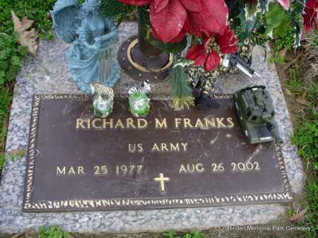 FRANKS (VETERAN), RICHARD M - Crittenden County, Arkansas | RICHARD M FRANKS (VETERAN) - Arkansas Gravestone Photos