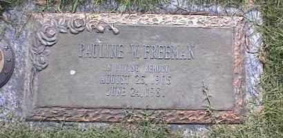 FREEMAN, PAULINE W - Crittenden County, Arkansas | PAULINE W FREEMAN - Arkansas Gravestone Photos