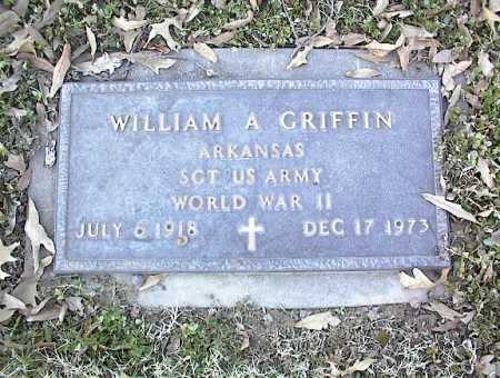 GRIFFIN (VETERAN WWII), WILLIAM A - Crittenden County, Arkansas | WILLIAM A GRIFFIN (VETERAN WWII) - Arkansas Gravestone Photos