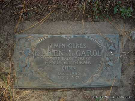 GUNN, KAREN - Crittenden County, Arkansas | KAREN GUNN - Arkansas Gravestone Photos