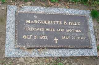 HELD, MARGUERITTE B - Crittenden County, Arkansas | MARGUERITTE B HELD - Arkansas Gravestone Photos