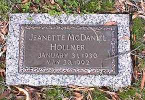 MCDANIEL HOLLMER, JEANETTE - Crittenden County, Arkansas   JEANETTE MCDANIEL HOLLMER - Arkansas Gravestone Photos