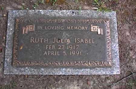 ISABEL, RUTH JULIA - Crittenden County, Arkansas | RUTH JULIA ISABEL - Arkansas Gravestone Photos