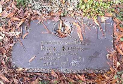 KUPER, RICK - Crittenden County, Arkansas   RICK KUPER - Arkansas Gravestone Photos