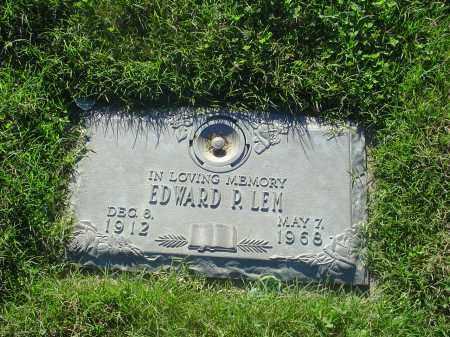 LEM, EDWARD R - Crittenden County, Arkansas   EDWARD R LEM - Arkansas Gravestone Photos