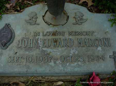 MARCONI, JOHN EDWARD - Crittenden County, Arkansas   JOHN EDWARD MARCONI - Arkansas Gravestone Photos