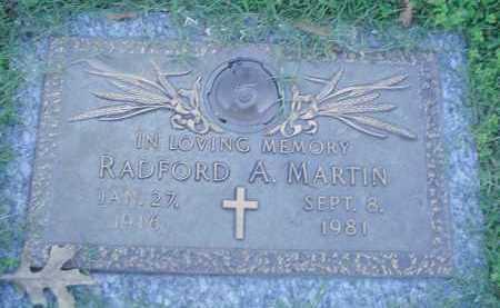 MARTIN, RADFORD A - Crittenden County, Arkansas   RADFORD A MARTIN - Arkansas Gravestone Photos