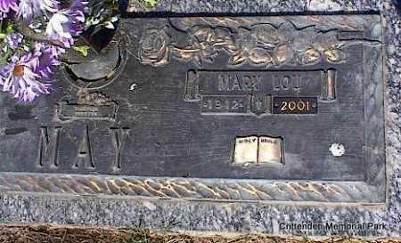 MAY, MARY LOU - Crittenden County, Arkansas | MARY LOU MAY - Arkansas Gravestone Photos