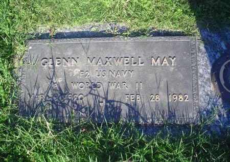 MAY (VETERAN WWII), GLENN MAXWELL - Crittenden County, Arkansas | GLENN MAXWELL MAY (VETERAN WWII) - Arkansas Gravestone Photos