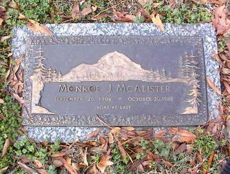 MCALISTER, MONROE J - Crittenden County, Arkansas   MONROE J MCALISTER - Arkansas Gravestone Photos