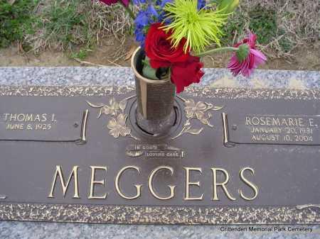 MEGGERS, ROSEMARIE E - Crittenden County, Arkansas | ROSEMARIE E MEGGERS - Arkansas Gravestone Photos