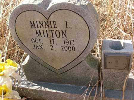 MILTON, MINNIE L. - Crittenden County, Arkansas | MINNIE L. MILTON - Arkansas Gravestone Photos