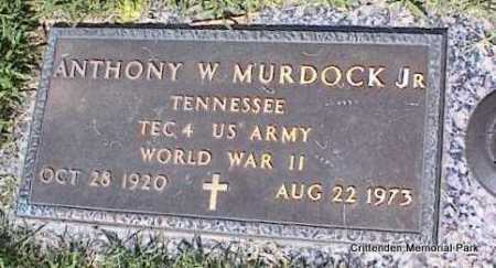 MURDOCK, JR (VETERAN WWII), ANTHONY W - Crittenden County, Arkansas | ANTHONY W MURDOCK, JR (VETERAN WWII) - Arkansas Gravestone Photos