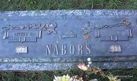 NABORS, ARTHUR O - Crittenden County, Arkansas | ARTHUR O NABORS - Arkansas Gravestone Photos