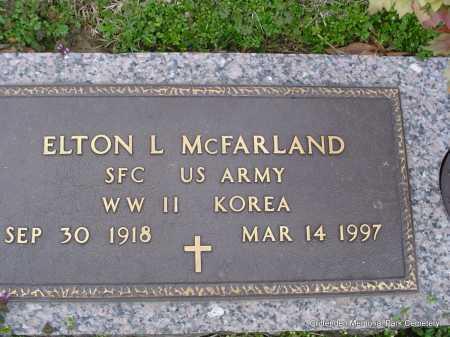 MCFARLAND (VETERAN 2 WARS), ELTON L - Crittenden County, Arkansas   ELTON L MCFARLAND (VETERAN 2 WARS) - Arkansas Gravestone Photos