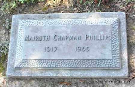 CHAPMAN PHILLIPS, MAIRUTH - Crittenden County, Arkansas | MAIRUTH CHAPMAN PHILLIPS - Arkansas Gravestone Photos