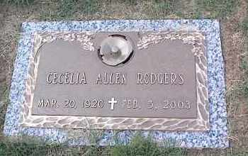 ALLEN RODGERS, CECLIA - Crittenden County, Arkansas | CECLIA ALLEN RODGERS - Arkansas Gravestone Photos