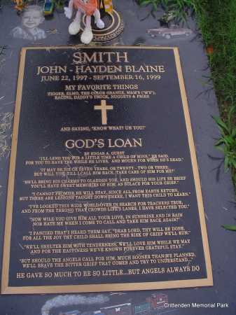 SMITH, JOHN-HAYDEN BLAINE - Crittenden County, Arkansas | JOHN-HAYDEN BLAINE SMITH - Arkansas Gravestone Photos