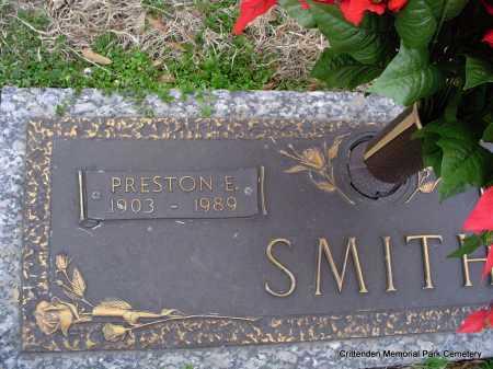 SMITH, PRESTON E - Crittenden County, Arkansas   PRESTON E SMITH - Arkansas Gravestone Photos