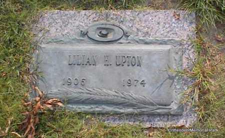 UPTON, LILLIAN H - Crittenden County, Arkansas   LILLIAN H UPTON - Arkansas Gravestone Photos