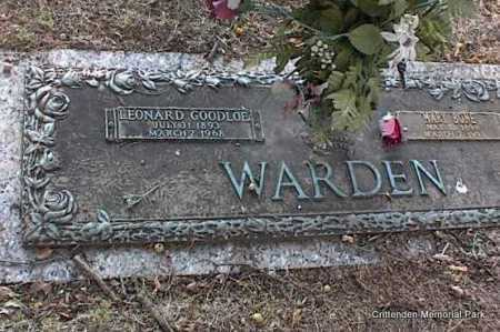BONE WARDEN, MARY - Crittenden County, Arkansas | MARY BONE WARDEN - Arkansas Gravestone Photos