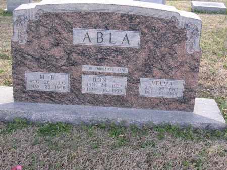 ABLA, VELMA - Cross County, Arkansas | VELMA ABLA - Arkansas Gravestone Photos