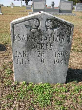 ACREE, SARA - Cross County, Arkansas | SARA ACREE - Arkansas Gravestone Photos