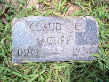 ACUFF, CLAUD L - Cross County, Arkansas | CLAUD L ACUFF - Arkansas Gravestone Photos