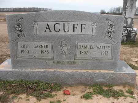 ACUFF, SAMUEL WALTER - Cross County, Arkansas | SAMUEL WALTER ACUFF - Arkansas Gravestone Photos