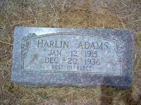 ADAMS, HARLIN - Cross County, Arkansas | HARLIN ADAMS - Arkansas Gravestone Photos