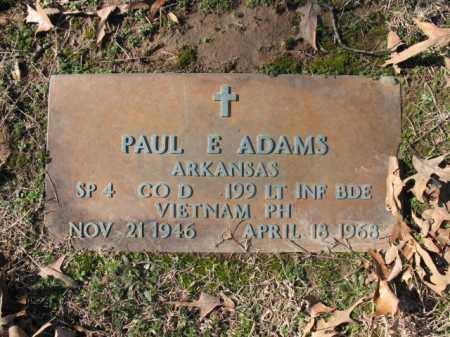 ADAMS (VETERAN VIET), PAUL E - Cross County, Arkansas   PAUL E ADAMS (VETERAN VIET) - Arkansas Gravestone Photos