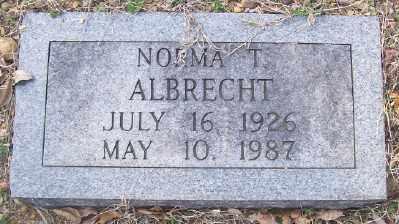 ALBRECHT, NORMA T. - Cross County, Arkansas | NORMA T. ALBRECHT - Arkansas Gravestone Photos