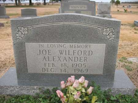 ALEXANDER, JOE WILFORD - Cross County, Arkansas | JOE WILFORD ALEXANDER - Arkansas Gravestone Photos