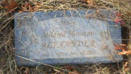 HOUSTON ALEXANDER, MILDRED - Cross County, Arkansas | MILDRED HOUSTON ALEXANDER - Arkansas Gravestone Photos