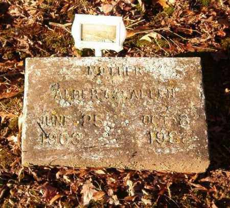 ALLEN, ALBERTA - Cross County, Arkansas   ALBERTA ALLEN - Arkansas Gravestone Photos