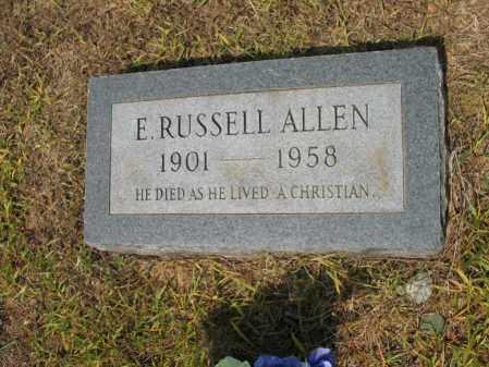 ALLEN, E RUSSEL - Cross County, Arkansas | E RUSSEL ALLEN - Arkansas Gravestone Photos