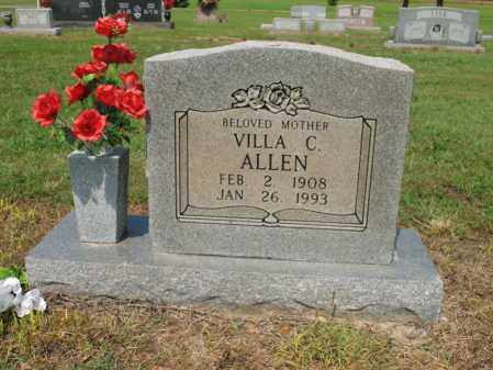 ALLEN, VILLA C - Cross County, Arkansas   VILLA C ALLEN - Arkansas Gravestone Photos