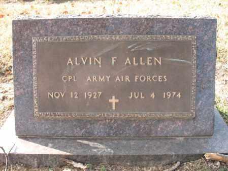 ALLEN (VETERAN WWII), ALVIN FRANKLIN - Cross County, Arkansas   ALVIN FRANKLIN ALLEN (VETERAN WWII) - Arkansas Gravestone Photos