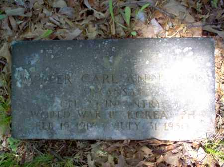 ANDERSON  (VETERAN 2 WARS KIA), WALTER CARL - Cross County, Arkansas | WALTER CARL ANDERSON  (VETERAN 2 WARS KIA) - Arkansas Gravestone Photos