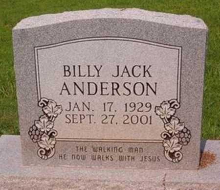 ANDERSON, BILLY JACK - Cross County, Arkansas   BILLY JACK ANDERSON - Arkansas Gravestone Photos