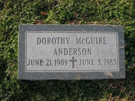 MCGUIRE ANDERSON, DOROTHY - Cross County, Arkansas | DOROTHY MCGUIRE ANDERSON - Arkansas Gravestone Photos