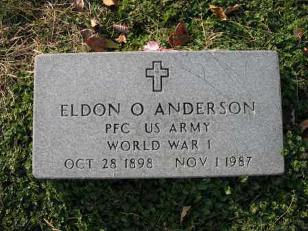 ANDERSON (VETERAN WWI), ELDON O - Cross County, Arkansas | ELDON O ANDERSON (VETERAN WWI) - Arkansas Gravestone Photos