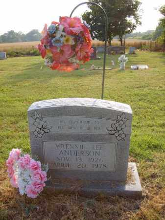 ANDERSON, WRENNIE LEE - Cross County, Arkansas   WRENNIE LEE ANDERSON - Arkansas Gravestone Photos